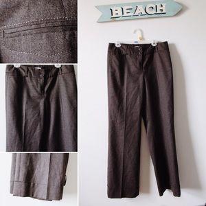 Loft petite brown trousers